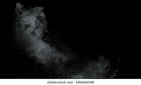 Smoke fainted on black background 3d render
