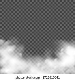 Smoke fog effect. Realistic smoke, mist. smog cloud dust background