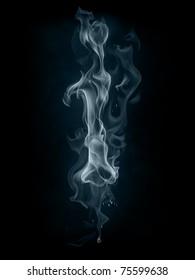 Smoke font. Letter i