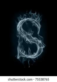 Smoke font. Letter S