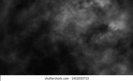 Smoke on the floor . Misty fog effect texture overlays for text or space. Isolated on black background.