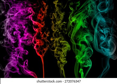 smoke texture brushes, edited with adobe Photoshop cs 5, filled with colours