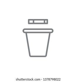 smoking trashcan outline icon. Elements of smoking activities illustration icon. Signs and symbols can be used for web, logo, mobile app, UI, UX