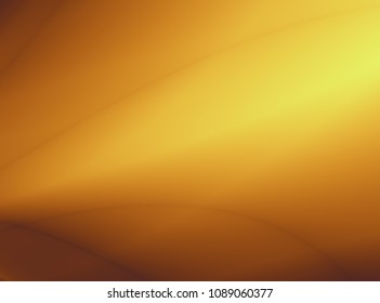 Smooth abstract yellow soft art design