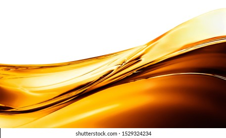 Smooth big wave of oil on a light background
