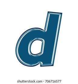 Wine Red Lowercase Small Letter D Stock Illustration Royalty Free