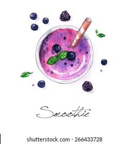 Smoothie - Watercolor Food Collection