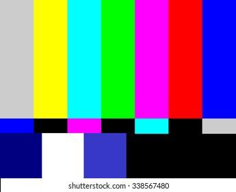 SMPTE color bars television test pattern