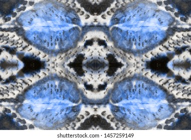 Snake Animal Wallpaper. Backdrop Threadbare textile. Repeat Decoration. Desert Snake Decoration. Natural Aquamarine Ornate. Snake picture. Seamless Gouache.
