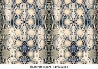 Snake skin background, Reptile seamless texture. Animal print