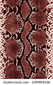 Snake skin, brown white color jacquard weaving and curtain pattern