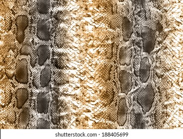 Snake skin pattern in brown color tones.