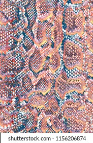 Snake skin pattern texture repeating seamless multicolored skin. Texture snake. Fashionable print. Fashion and stylish background