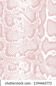 Snake skin pattern texture repeating seamless roses pink . Texture snake. Fashionable print. Fashion and stylish background