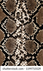 Snake skin pattern texture repeating black, brown, beige colors . Seamless  texture snake. Fashionable print. Fashion and stylish background