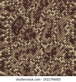 Snake skin, reptile camouflage pattern for fabric design. Animal print, python texture. Abstract leather background