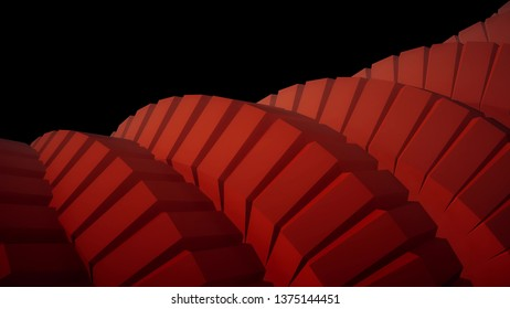 snake worm spine like 3d rendered gears mechanism abstract background new colorful cool nice beautiful 4k stock image illustration