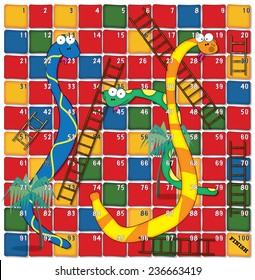 snakes and ladders board game.