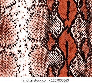 snakeskin red  black python pattern