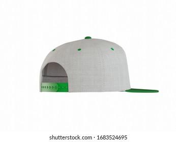 snap-back base cap on a white background. 3D-Illustration