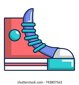 Sneakers hipster shoes icon. Cartoon illustration of sneakers hipster shoes  icon for web design