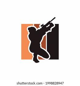 The sniper logo and illustration