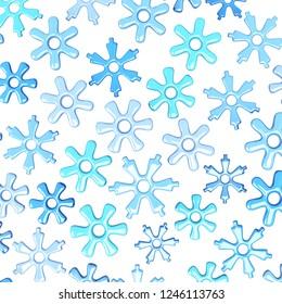 Snoflake background. 3D illustration
