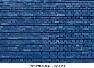 Snorkel blue brick wall background