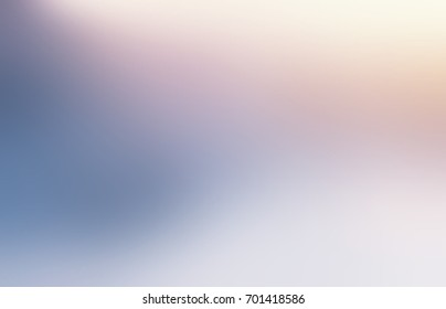 Snow blue yellow glow blurred background. Empty winter texture. Luxurious pearl brilliance background. Festive glare natural texture.