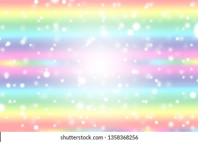 Snow bokeh fall from sky can be use as background for Christmas festival or winter season contents or for wallpaper or paper for contents about winter. The snow are on rainbow color background.