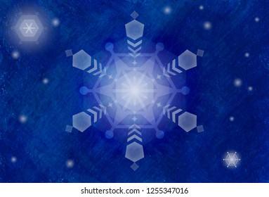 Snow crystal sky