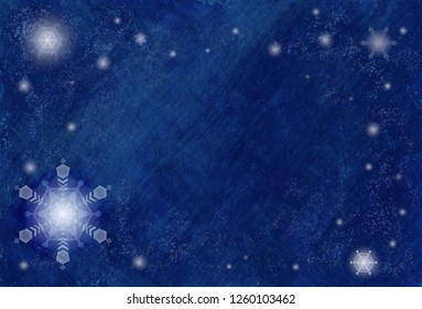 Snow flakes beautiful blue frame graphics