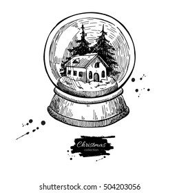 Vintage Snow Globes Stock Illustrations, Images \u0026 Vectors