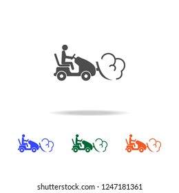 snow tractor with snowdrift in plow icon. Elements of Christmas holidays in multi colored icons. Premium quality graphic design icon. Simple icon for websites, web design