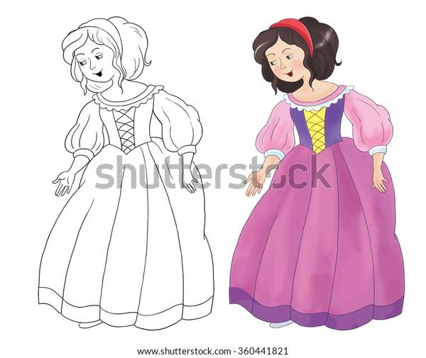 Illustration De Stock De Blanche Neige Et Sept Nains Un 360441821