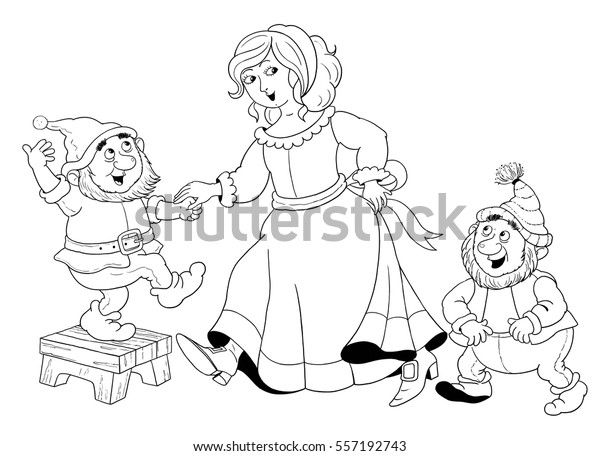 The Seven Dwarfs Coloring Pages - Coloring Home | 456x600