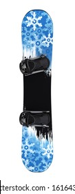 Snowboard isolated on White Background. Clipping path