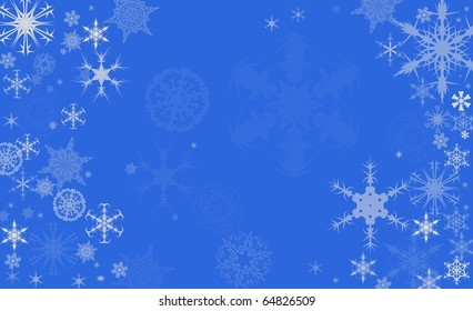 Snowflake Background, with Space for your Text