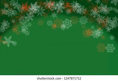 Snowflake illustration for Christmas card
