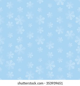 Snowflake Seamless Pattern. Christmas repeating simple background