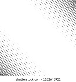 Snowflakes gradient Christmas or New Year abstract background with halftone style