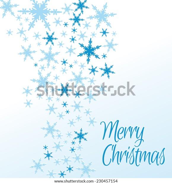 Snowflakes Merry Christmas Card - Raster Version