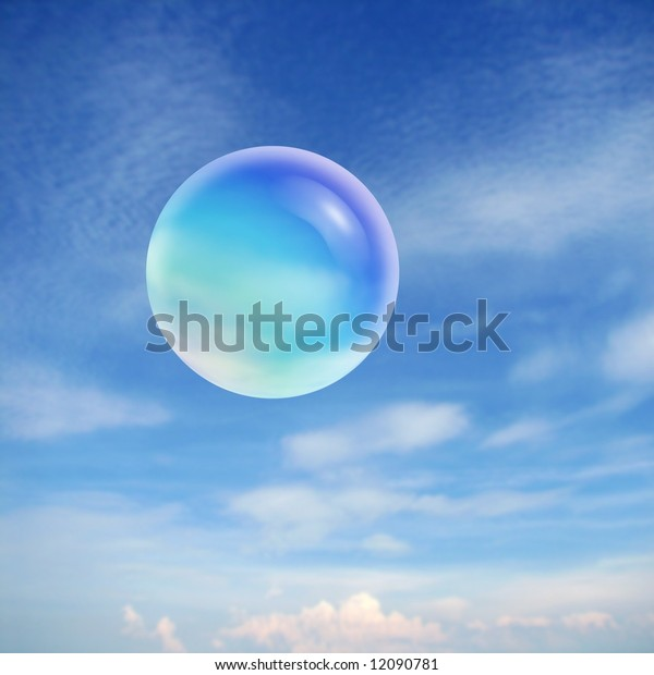 soap bubble in the air