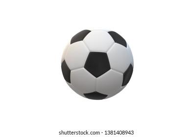 Soccer ball 3D background game text sport football