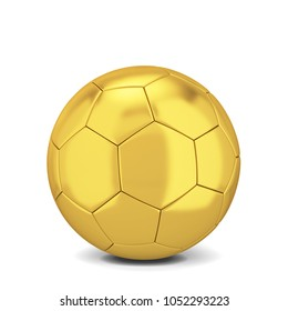 Soccer ball. 3d illustration isolated on white background