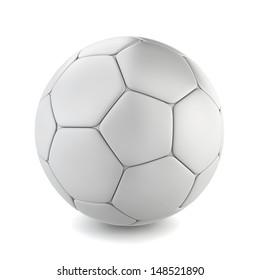 Soccer ball. 3d illustration on white background