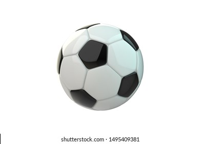 Soccer ball 3d realistic rendering