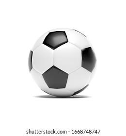 Soccer ball. 3d rendering illustration isolated on white background