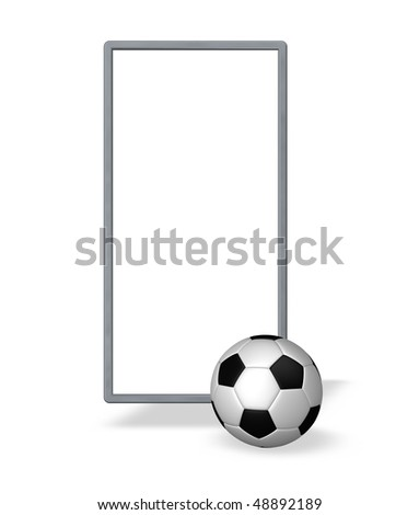 Soccer Ball And Blank White Board