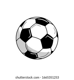 Soccer ball Flat icon illustration isolated on white background